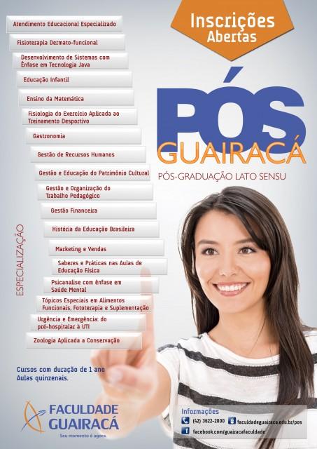 Guairacá está com inscrições abertas para cursos de Pós-Graduação