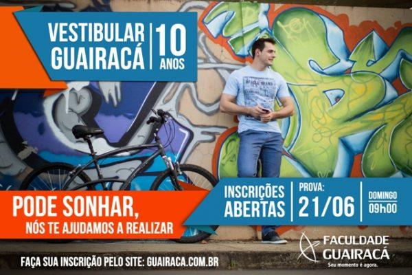 Faculdade Guairacá está com inscrições abertas para o vestibular