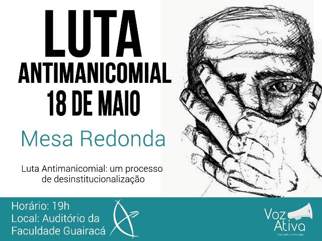 Atividades na Guairacá lembram Dia da Luta Antimanicomial