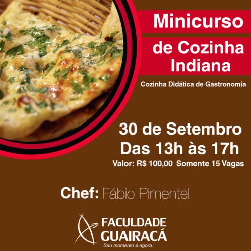 Minicurso de Cozinha Indiana – Cozinha Didática de Gastronomia – 2016