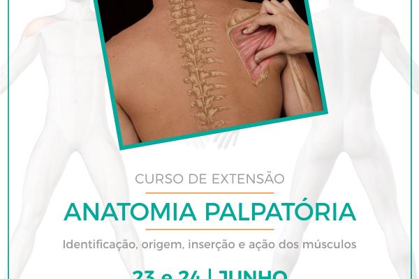 Inscrições abertas para curso de extensão em Anatomia Palpatória
