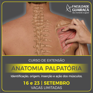 Guairacá abre inscrições para curso de extensão em Anatomia Palpatória