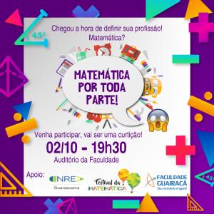 Matemática por toda parte: evento na Guairacá auxilia estudantes na escolha profissional