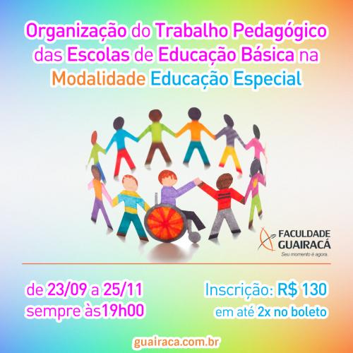 Curso de extensão aborda o trabalho pedagógico na educação especial