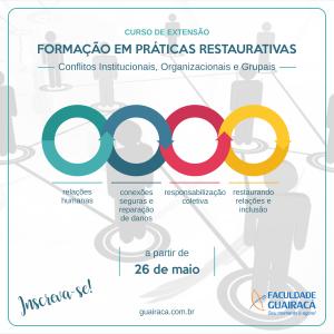 Curso de extensão 'Formação em Práticas Restaurativas' tem inscrições abertas na Guairacá