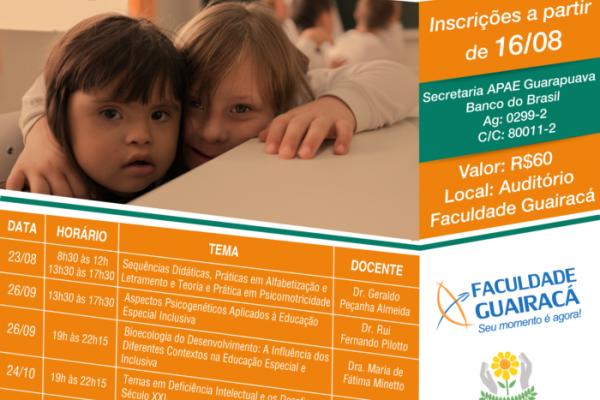 Curso de extensão na Guairacá oferece atualização em educação especial