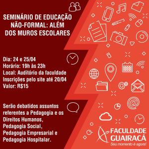 Seminário de educação não-formal: além dos muros escolares