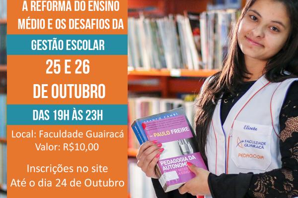 Seminário de Gestão Pedagógica aborda a reforma do ensino médio e os desafios da gestão escolar