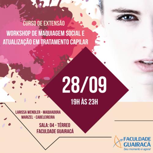 Abertas as inscrições para Workshop de Maquiagem e Atualização em Tratamento Capilar