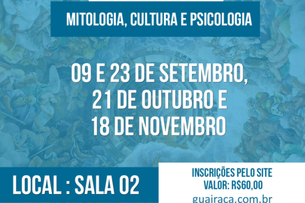 Mitologia, Cultura e Psicologia – 2016
