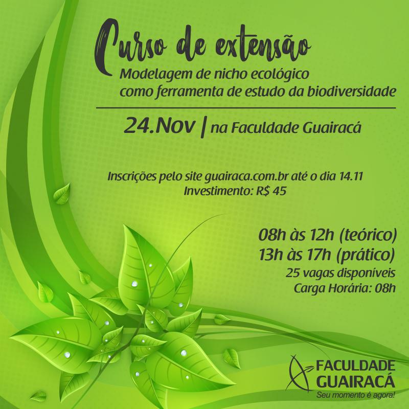 Faculdade Guairacá abre inscrições para curso de modelagem de nicho ecológico