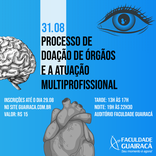 Faculdade Guairacá promove curso de atualização sobre processo de doação de órgãos