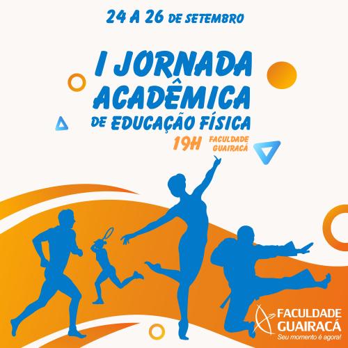 Inscrições abertas para a 1ª Jornada Acadêmica de Educação Física da Faculdade Guairacá