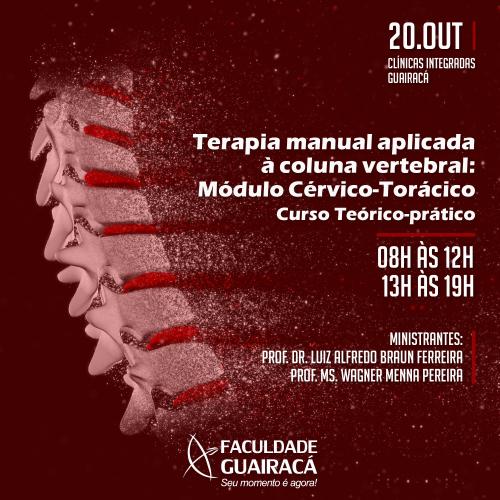 Curso de 'Terapia manual aplicada à coluna vertebral' tem seu segundo módulo na Guairacá