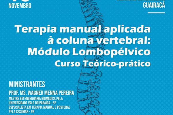 Guairacá promove curso de extensão em terapia manual aplicada à coluna vertebral