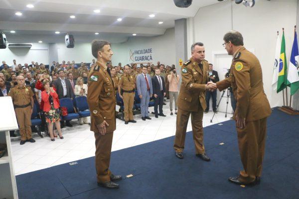 Faculdade Guairacá sedia passagem de comando do 16º BPM