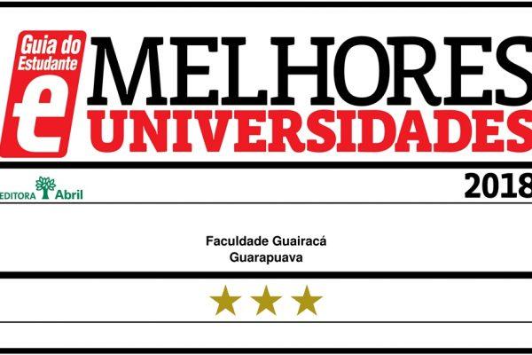 Guia do Estudante 2018 destaca cursos da Faculdade Guairacá