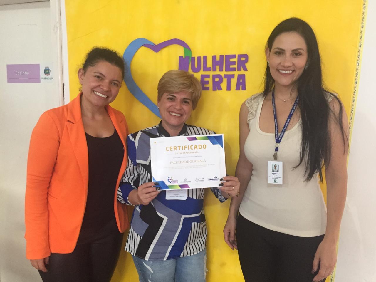 Mulher Alerta: Faculdade Guairacá recebe certificado de reconhecimento