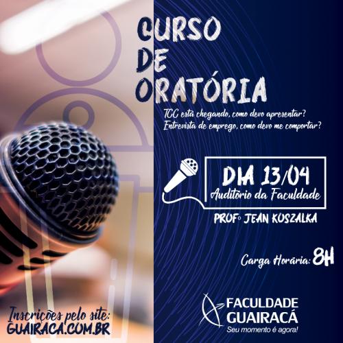 A arte de falar em público: Faculdade Guairacá oferta curso de oratória