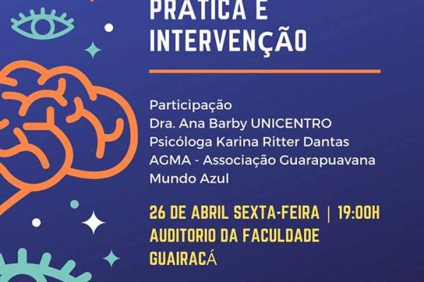 Abril Azul: mesa redonda na Guairacá discute intervenção, prática e conceitos do autismo