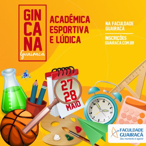 Abertas as inscrições para a Gincana Acadêmica, Esportiva e Lúdica Guairacá