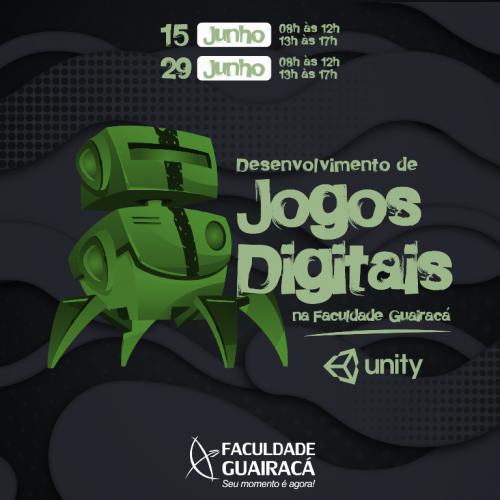 Faculdade Guairacá oferta curso de Desenvolvimento de Jogos Digitais/Unity
