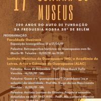 Programação 17ª Semana de Museus
