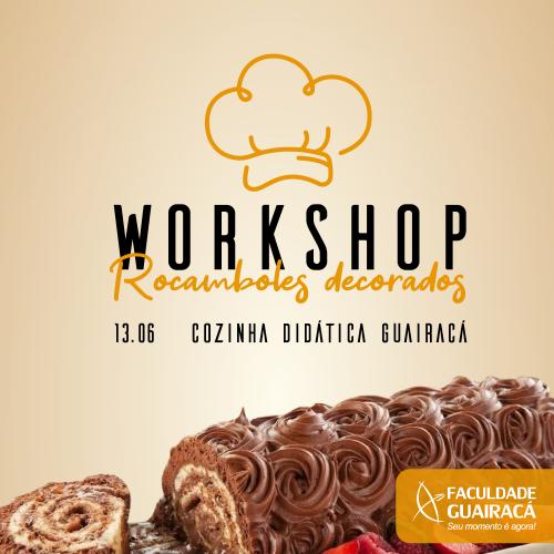 Abertas as inscrições para workshop de rocamboles decorados na Guairacá
