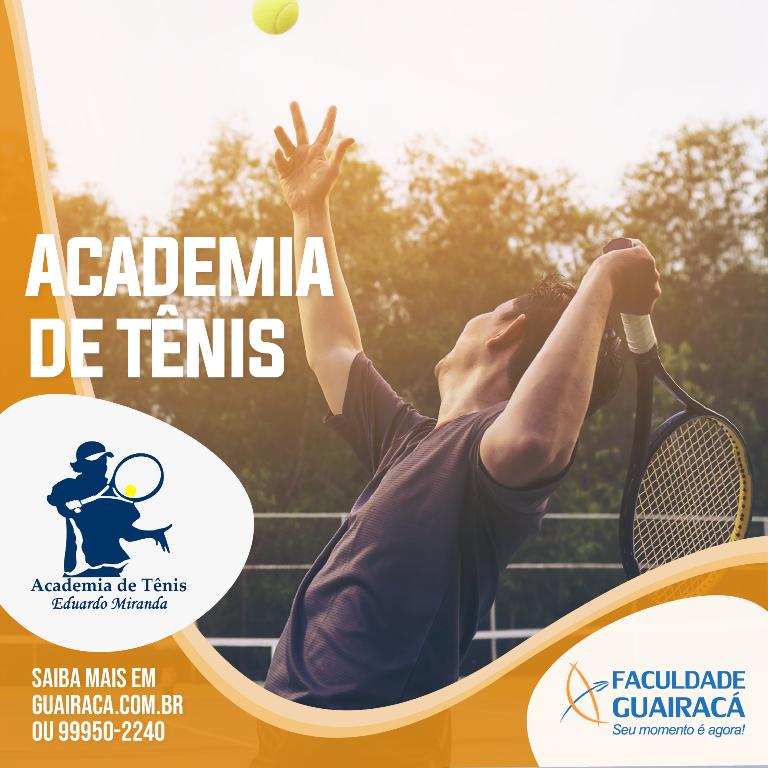 Faculdade Guairacá abre inscrições para Academia de Tênis