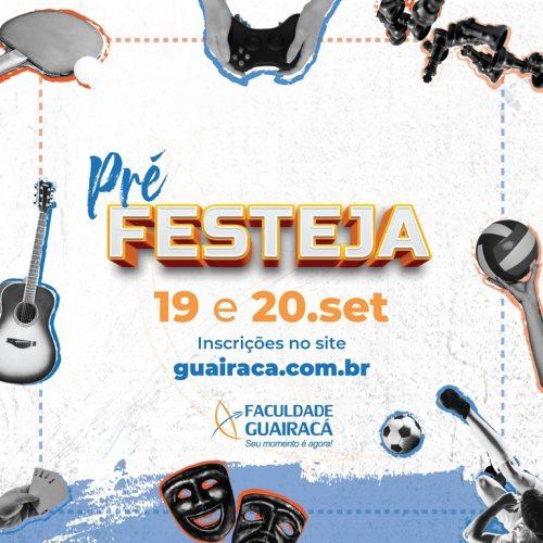 Abertas as inscrições para o Pré-Festeja Guairacá