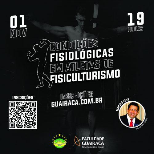 Guairacá recebe diretor científico da NABBA/WFF Brasil para palestra sobre fisiculturismo