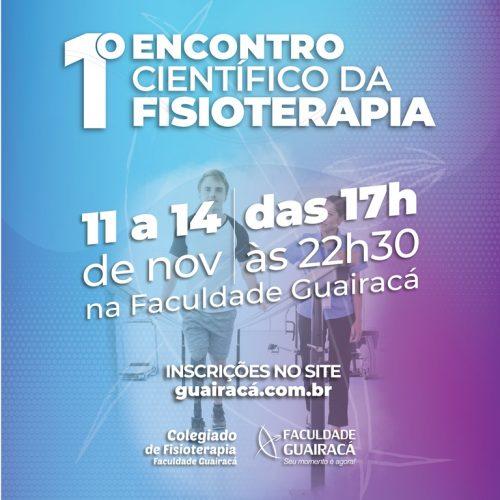 Faculdade Guairacá promove I Encontro Científico da Fisioterapia
