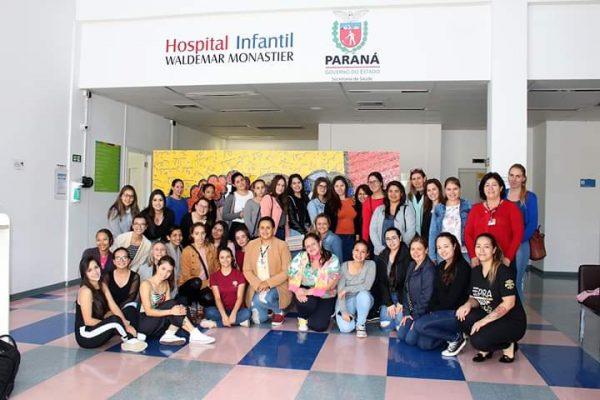 Pedagogia hospitalar: Acadêmicos da Guairacá fazem visita técnica a hospital infantil