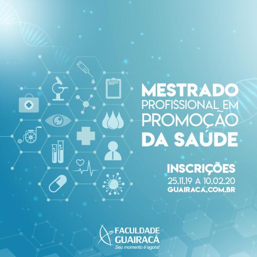 Guairacá abre inscrições para segunda turma do Mestrado em Promoção da Saúde