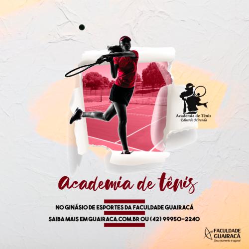 Academia de Tênis retorna as atividades na Faculdade Guairacá em 2020