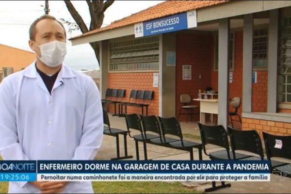 Enfermeiro formado na UniGuairacá redobra cuidados para proteger a família durante pandemia