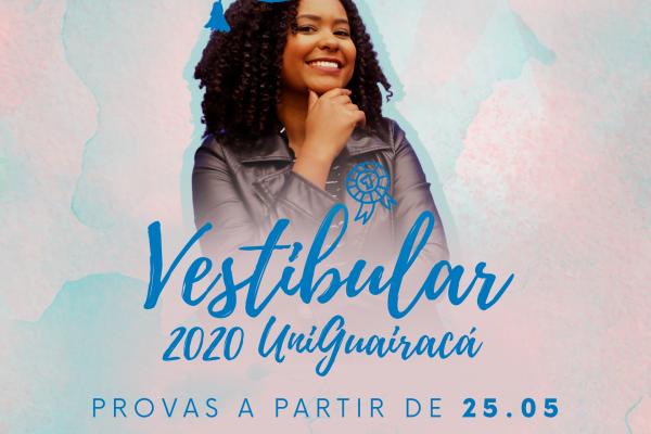 UniGuairacá oferta Vestibular Digital e Presencial Agendado para ingresso no segundo semestre