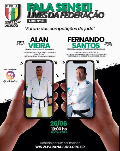 Sensei Fernando, da Randori/Guairacá, participa de live da Federação Paranaense de Judô