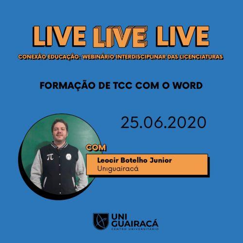 Acadêmicos de licenciatura da UniGuairacá participam de web seminário interdisciplinar