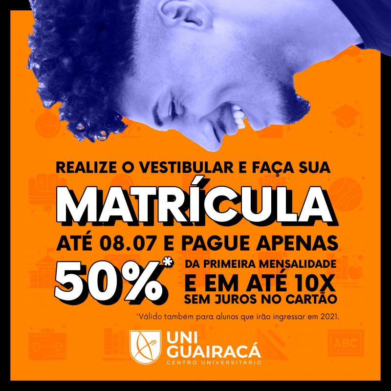 UniGuairacá oferece descontos para alunos ingressantes na matrícula