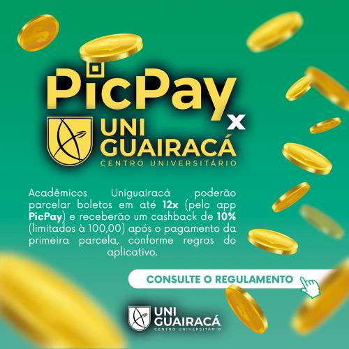 UniGuairacá e PicPay fecham parceria para pagamento das mensalidades