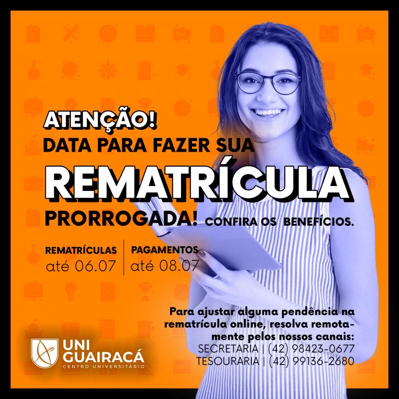 UniGuairacá lança campanha para rematrícula antecipada