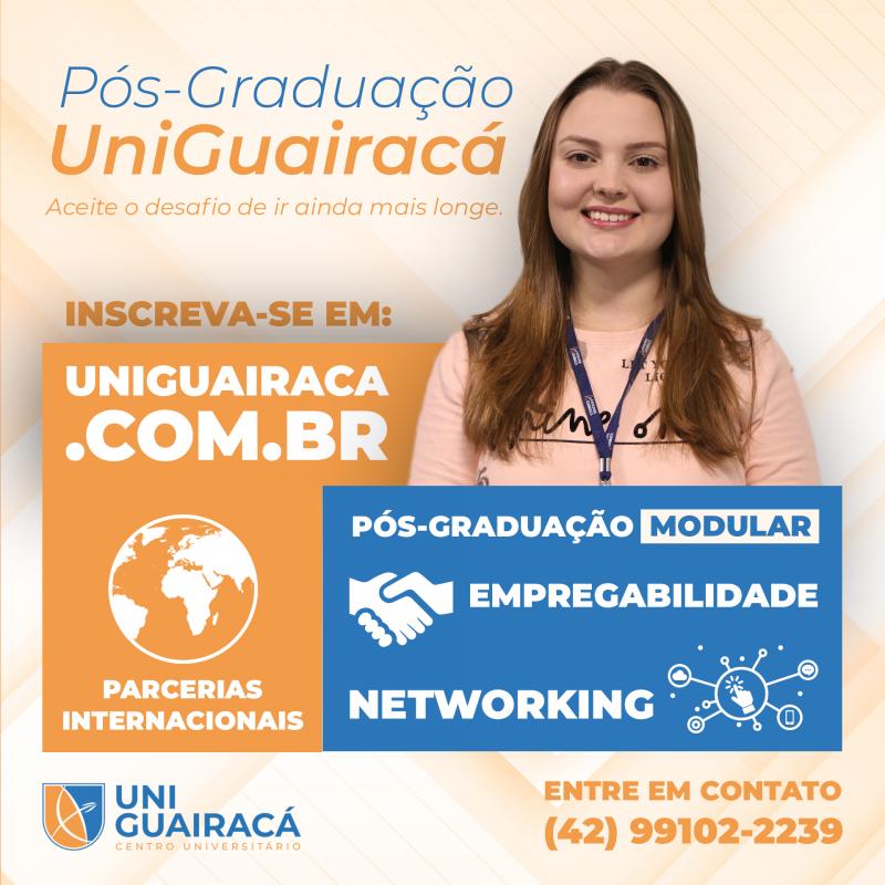 Inovação: UniGuairacá lança pós-graduação modular