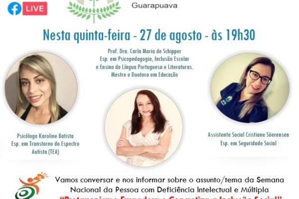 Professora da UniGuairacá participa de live comemorativa à Semana da Pessoa com Deficiência Intelectual e Múltipla