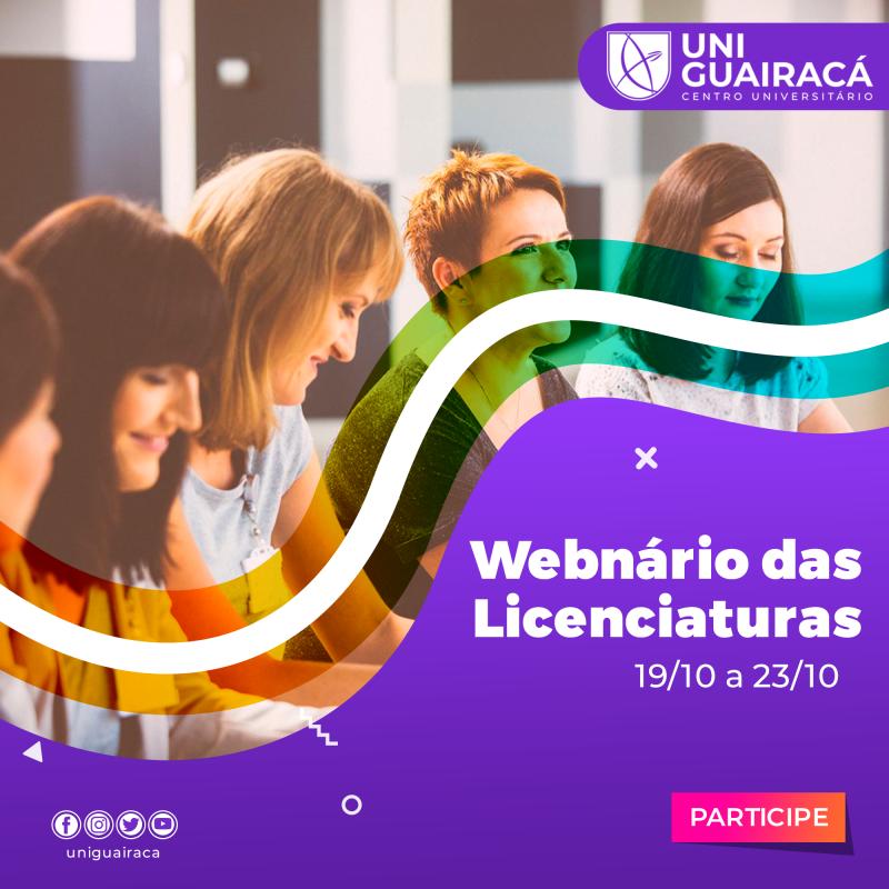 Webnário das Licenciaturas marca os 15 anos do curso de Pedagogia na UniGuairacá