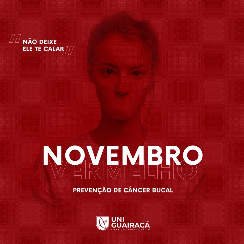 Novembro Vermelho: UniGuairacá promove campanha de conscientização do câncer bucal