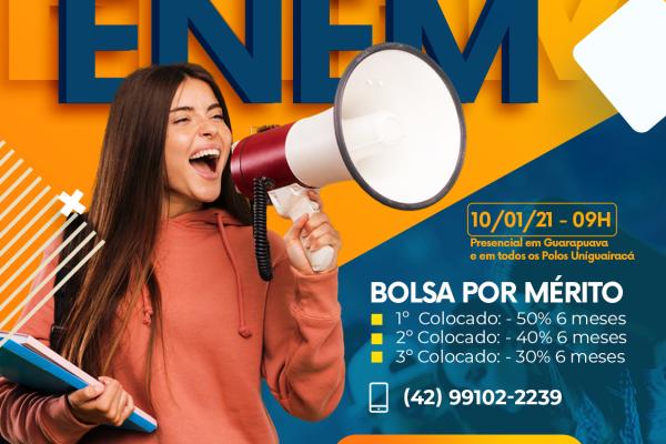 UniGuairacá promove simulado gratuito para estudantes que irão prestar o Enem