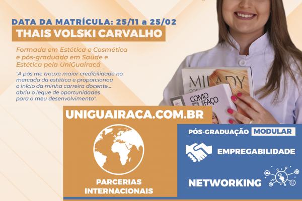 UniGuairacá oferta diversos cursos de pós-graduação para 2021
