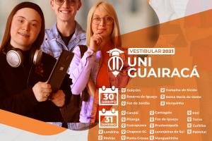 UniGuairacá realiza vestibular em Guarapuava e mais 21 cidades